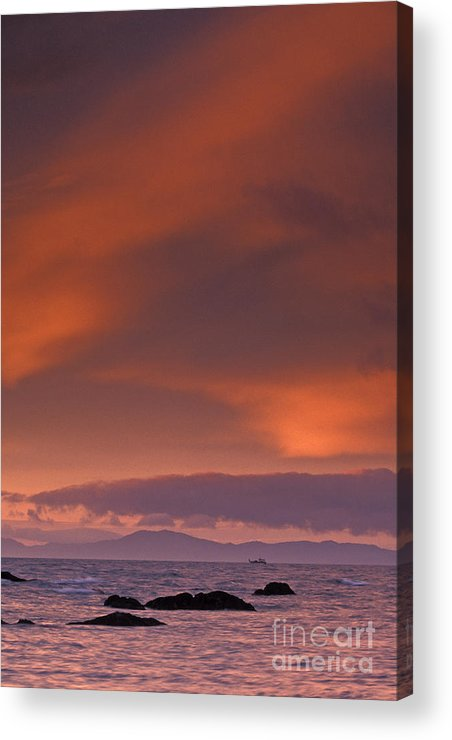 Sun Acrylic Print featuring the photograph Prince William Sound Sunrise by Tim Grams