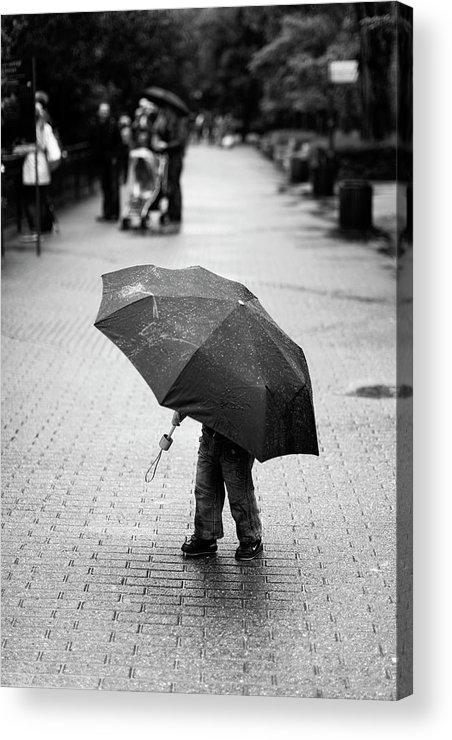 Umbrella Acrylic Print featuring the photograph Rainy Day by Liesbeth Van Der