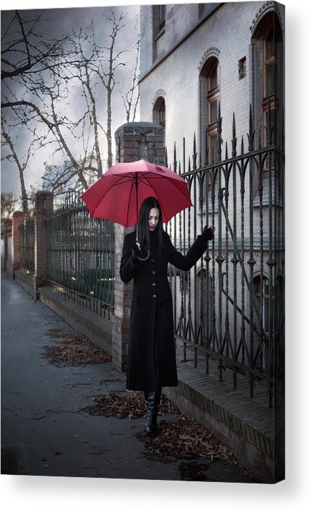 Woman Acrylic Print featuring the photograph Rainy Day by Cambion Art