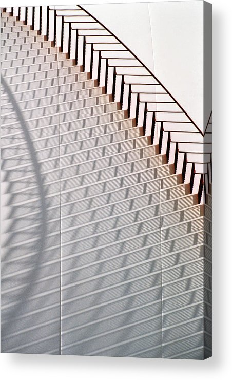 Home Decor Acrylic Print featuring the photograph Red Stairs by Jeff Leland