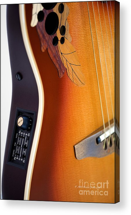Guitar Acrylic Print featuring the photograph Redish-brown Guitar by Richard J Thompson