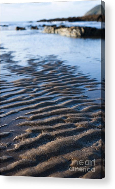 Autumn Acrylic Print featuring the photograph Ripples In The Sand by Anne Gilbert