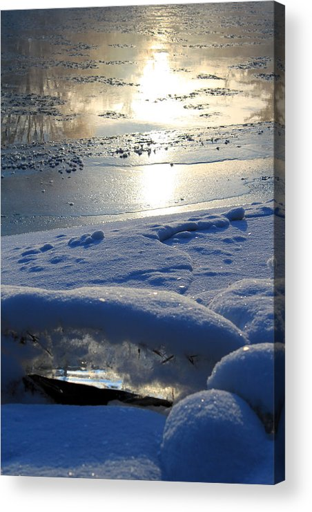 River Ice Acrylic Print featuring the photograph River Ice by Hanne Lore Koehler