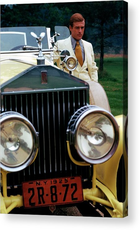Actor Acrylic Print featuring the photograph Robert Redford By A Rolls-royce by Duane Michals