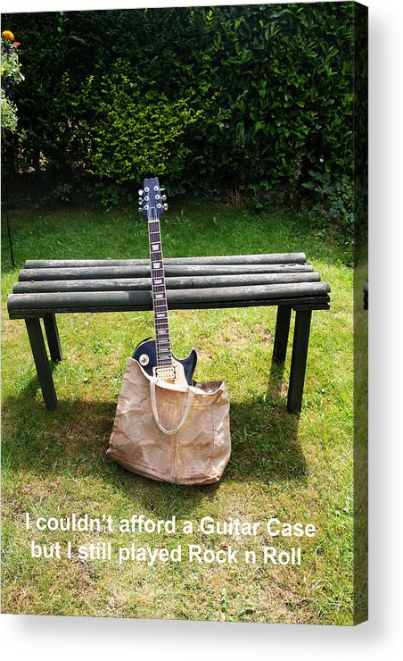 Guitar Acrylic Print featuring the photograph Rock N Roll Guitar In A Bag by Tom Conway