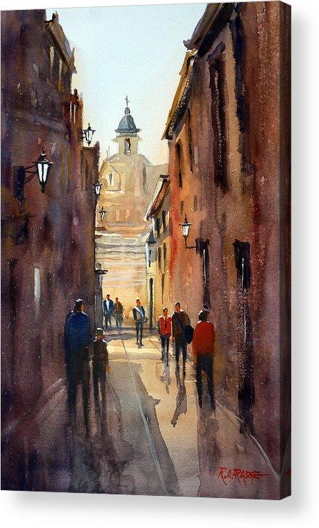 Ryan Radke Acrylic Print featuring the painting Rome by Ryan Radke