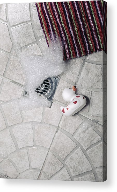 Cubicle Acrylic Print featuring the photograph Rubber Duck by Joana Kruse