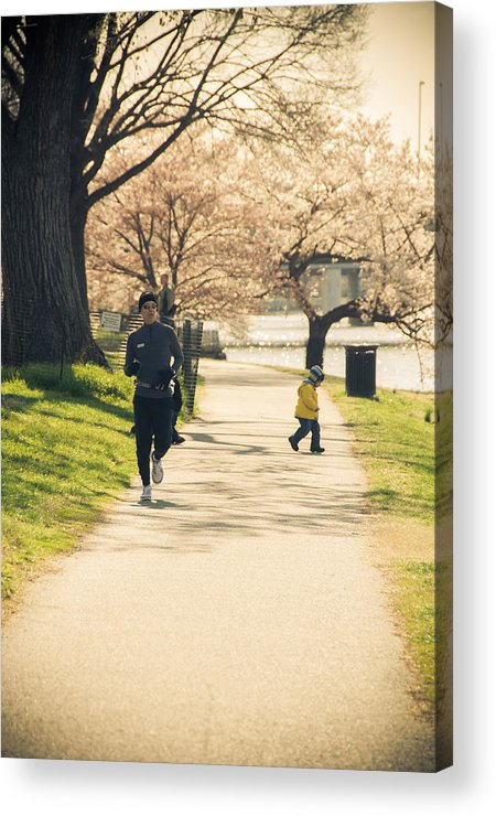 Dc Acrylic Print featuring the photograph Running Blossoms by Kimberly Powell