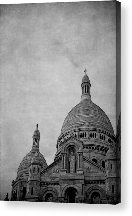 France Acrylic Print featuring the photograph Sacred Heart Basilica Of Montmartre by Maria Angelica Maira