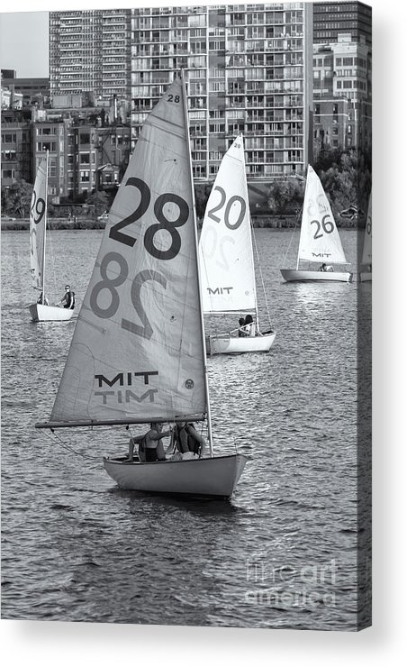 Clarence Holmes Acrylic Print featuring the photograph Sailboats On The Charles River II by Clarence Holmes