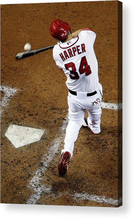 American League Baseball Acrylic Print featuring the photograph San Diego Padres V Washington Nationals by Rob Carr