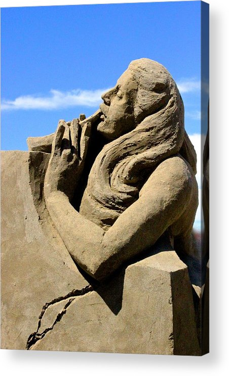 Music Motiff Sandcastles 2014 Acrylic Print featuring the photograph Sand Castle Contest Parksville by Unknown