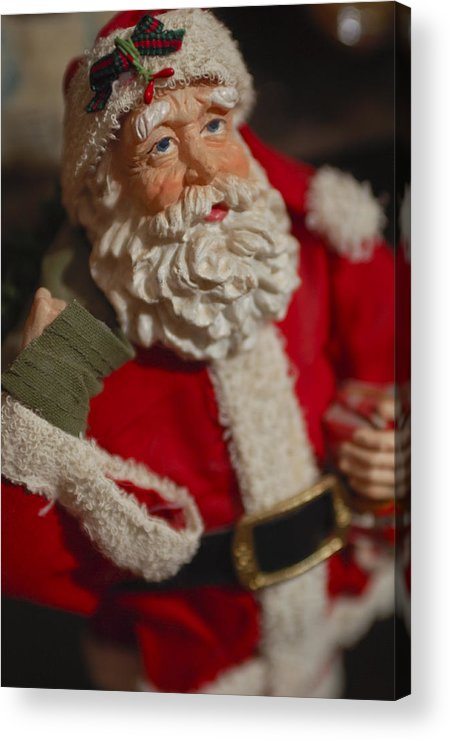 Santa Claus Acrylic Print featuring the photograph Santa Claus - Antique Ornament - 02 by Jill Reger