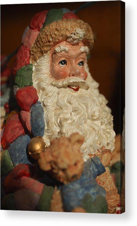Santa Claus Acrylic Print featuring the photograph Santa Claus - Antique Ornament - 09 by Jill Reger