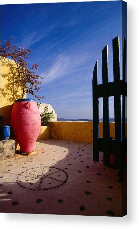 Santorini Acrylic Print featuring the photograph Santorini 020 by Manolis Tsantakis