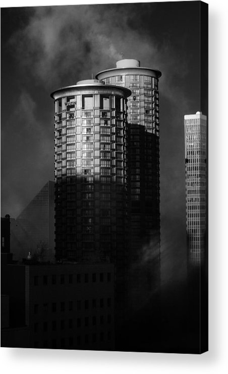 Montana Acrylic Print featuring the photograph Seattle Towers by Paul Bartoszek