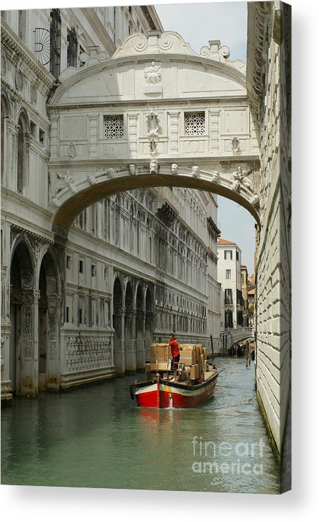 Serenissima Acrylic Print featuring the photograph Sento Un Sospiro by Carol Weitz