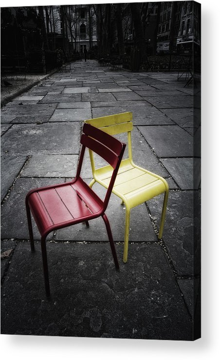 Chair Acrylic Print featuring the photograph Side By Side by Russell Styles