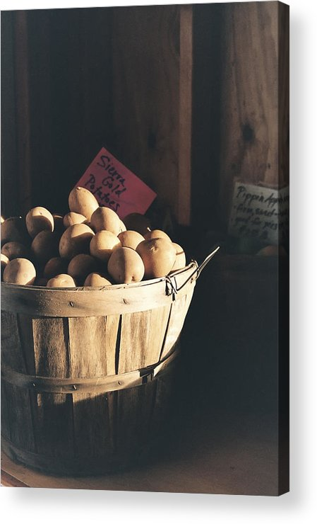 Potatoes Acrylic Print featuring the photograph Sierra Gold by Caitlyn Grasso