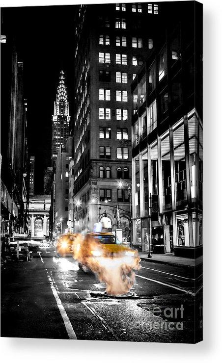 Smoking Streets Of New York Acrylic Print