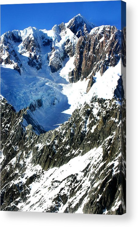 New Zealand Acrylic Print featuring the photograph Southern Alps New Zealand by Amanda Stadther