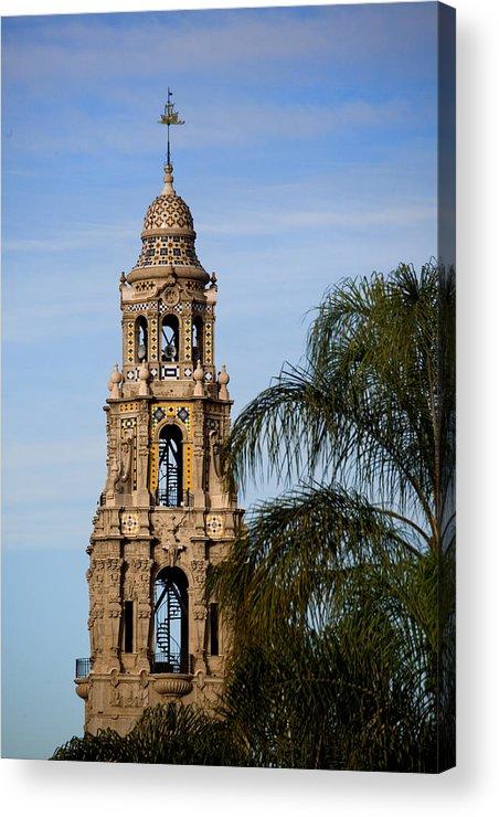 Balboa Park Acrylic Print featuring the photograph Spiral Stair Tower by Joe Darin