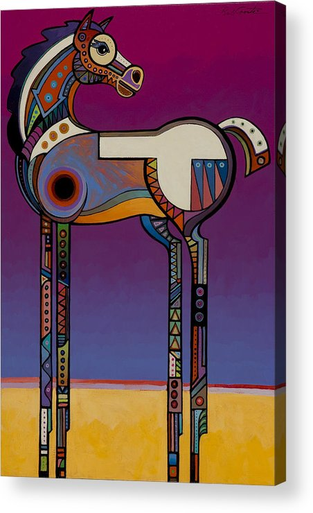 Animal Art Acrylic Print featuring the painting Spirit Horse by Bob Coonts