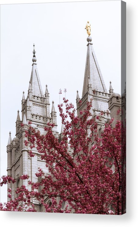 Spring At The Temple Acrylic Print featuring the photograph Spring At The Temple by Chad Dutson