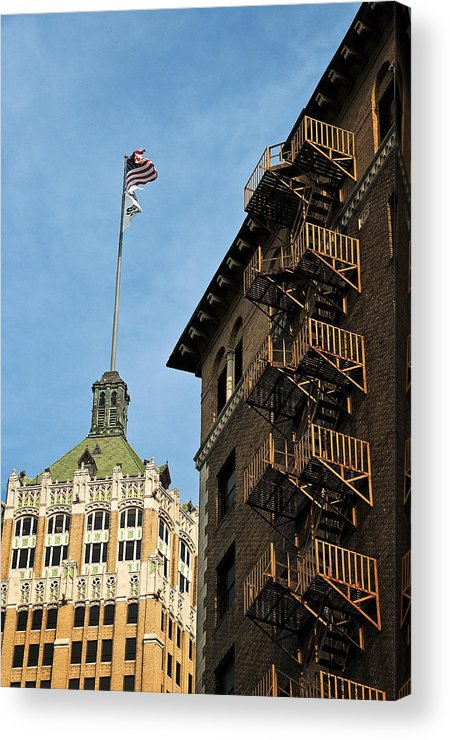 River Walk Acrylic Print featuring the photograph Stairs To The Top by Andy Crawford