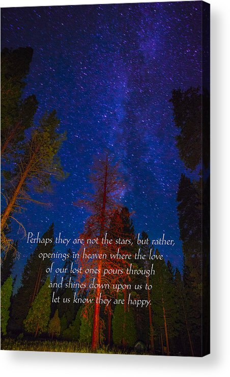 Inspirational Greeting Cards Grieving Note Cards Acrylic Print featuring the photograph Stars Light Star Bright Fine Art Photography Prints And Inspirational Note Cards by Jerry Cowart