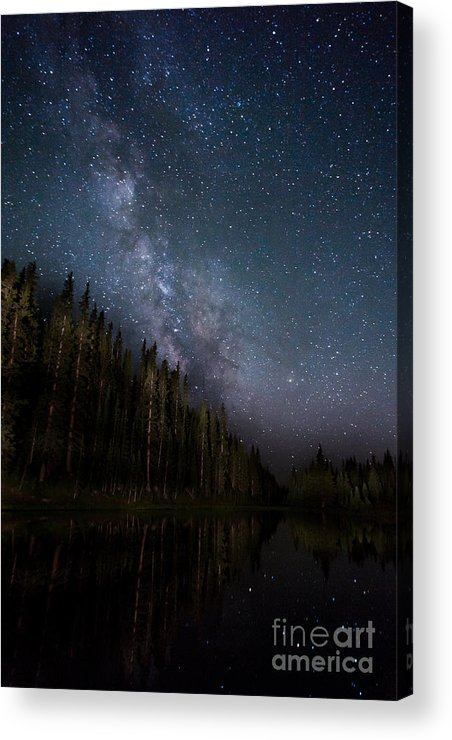 Lake Irene Acrylic Print featuring the photograph Stars On The Lake 2 by Ray K