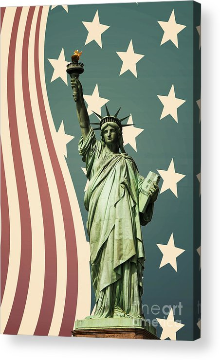 America Acrylic Print featuring the photograph Statue Of Liberty by Juli Scalzi