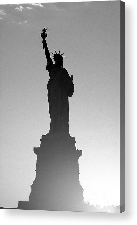 Statue Of Liberty Acrylic Print featuring the photograph Statue Of Liberty by Tony Cordoza