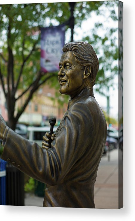 Photography Acrylic Print featuring the photograph Statue Of Us President Bill Clinton by Panoramic Images