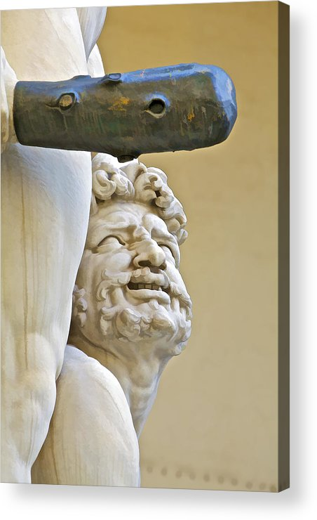 Agony Acrylic Print featuring the photograph Statues Of Hercules And Cacus by David Letts