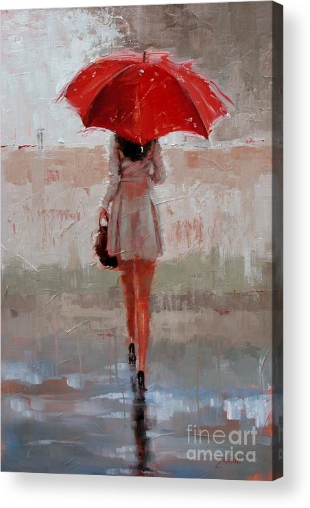 Laura Zanghetti Acrylic Print featuring the painting Stepping Out by Laura Lee Zanghetti