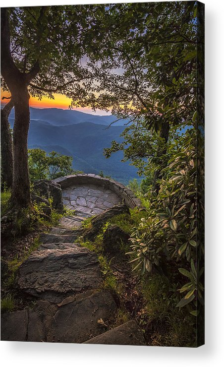 Sunrise Acrylic Print featuring the photograph Steps To A View by Andrew Soundarajan