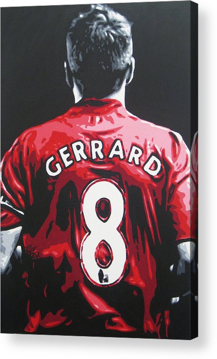 Steven Gerrard Acrylic Print featuring the painting Steven Gerrard - Liverpool Fc 3 by Geo Thomson