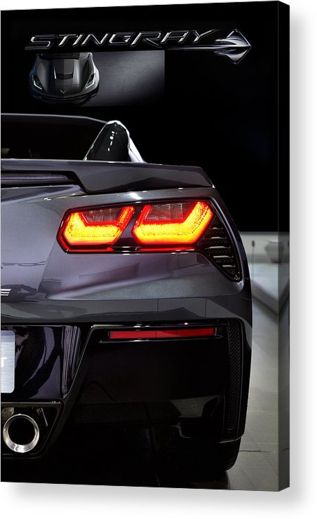 Corvette Acrylic Print featuring the photograph Stingray Tail by Peter Chilelli