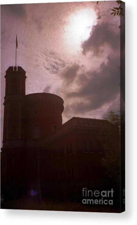 Sweden Acrylic Print featuring the photograph Stockholm Moon by Ted Pollard
