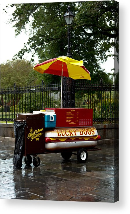 New Orleans Acrylic Print featuring the photograph Street Vendor by Susie Hoffpauir