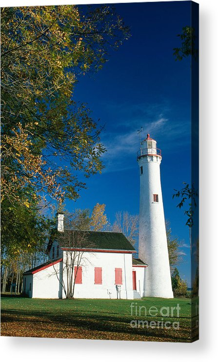 Lighthouse Acrylic Print featuring the photograph Sturgeon Point Lighthouse by David Davis