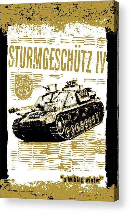 Armor Acrylic Print featuring the digital art Sturmgeschutz Iv by Philip Arena