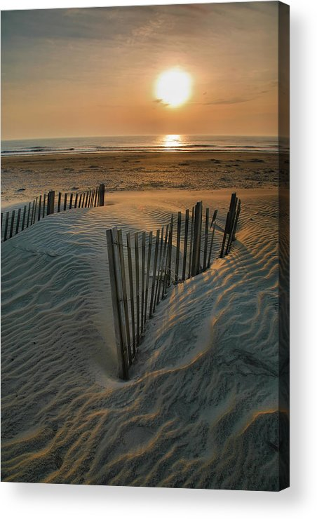 Outer Banks Prints Acrylic Print featuring the photograph Sunrise Over Hatteras by Steven Ainsworth