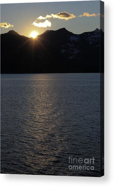 Sunset Acrylic Print featuring the photograph sunset over Alaska by Sophie Vigneault