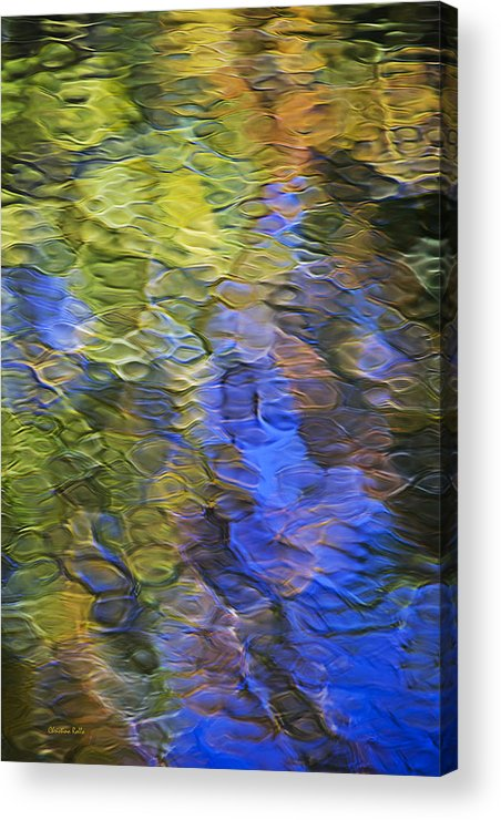 Abstract Acrylic Print featuring the photograph Tangerine Twist Mosaic Abstract Art by Christina Rollo