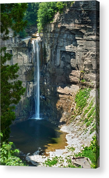 New York Acrylic Print featuring the photograph Taughannock Falls by Christina Rollo