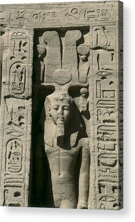 Vertical Acrylic Print featuring the photograph Temple Of Nefertari Dedicated by Everett