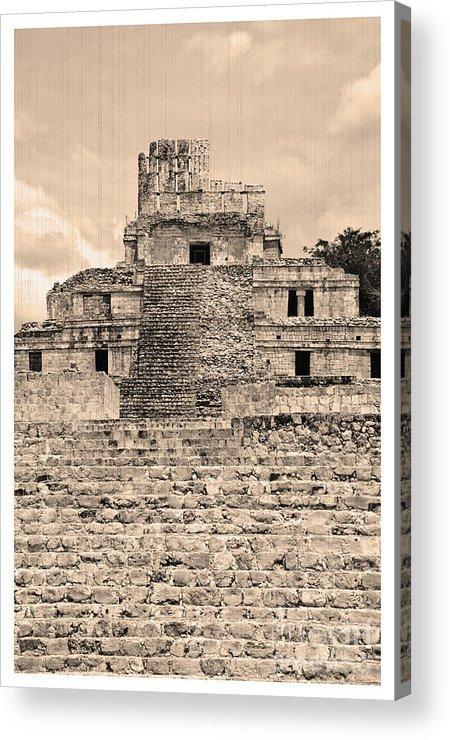 Temple Edzna Acrylic Print featuring the photograph Templo De Edzna Antiguo by Agus Aldalur