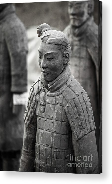 China Acrylic Print featuring the photograph Terracotta Army Warriors In Xian China by Matteo Colombo